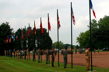 The flag ceremony at NTM 2003 Cambrai