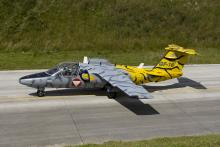 1 JTS Tiger Saab 105 returning from a NTM2008 mission (NTA Photo by David Goovaerts)