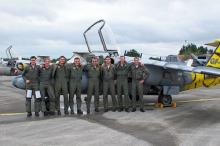 6 Pilots and 2 technicians, 1 JTS is the smalest team during NTM2008 (NTA photo by Gert Weckx)