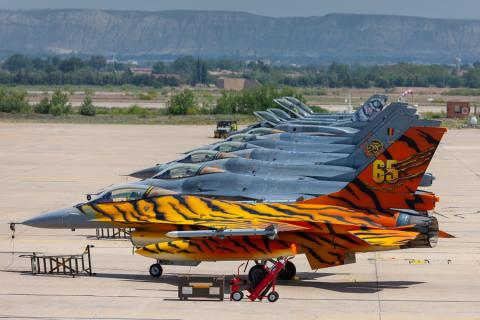31Squadron on the Zaragoza ramp during NTM2016 (photo by David Goovaerts)