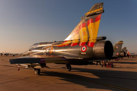 ECE 1.30 M2000D on The Zaragoza ramp just before sunset during NTM2016 (photo by David Goovaerts)
